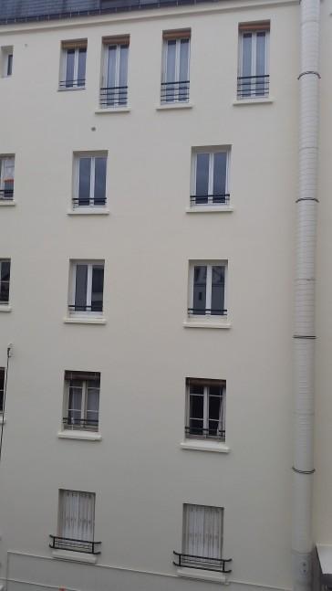 peinture façade cour